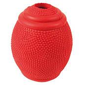 Trixie Резиновая игрушка для собак мяч-регби, 8 см.