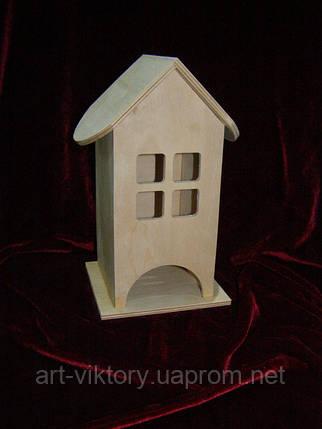 Домик коробка для чайных пакетиков Квадратные окна (10 х 10 х 23 см), фото 2
