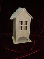 Домик коробка для чайных пакетиков Квадратные окна (10 х 10 х 23 см)