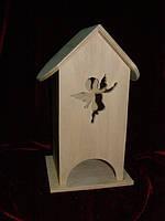Домик коробка для чайных пакетиков Ангел (10 х 10 х 23 см)