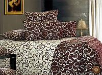 Полуторный комплект постельного белья Шоколадный Завиток