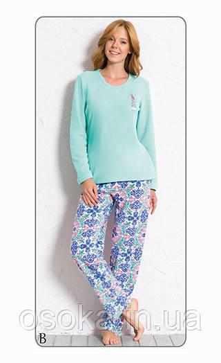 Пижама женская флис Vienetta Secret 6060222938