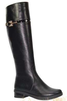 Сапоги женские кожаные на узкую глень евро зима на низком ходу AngelsVi .