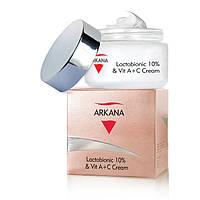 Крем с лактобионовой кислотой и витаминами А + С Arkana Lactobionic 10% & Vit A+C Cream 50 ml.