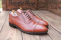 Мужские английские туфли броги Samuel Windsor, 27 см, 42 размер. Код: 015.