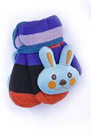Мультяшные детские варежки с мягкой игрушкой с утеплителем махра