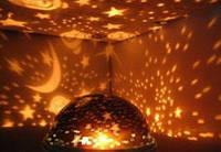 Светильник проектор на потолок вращающиеся звезды ночник в детскую