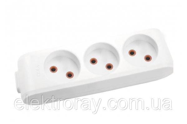 Колодка на 3 гнезда без заземления VIKO by Panasonic Multi-Let