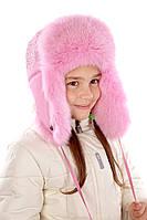 Шапка для девочки нежно розового цвета