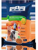 Клуб 4 лапы Сухой рацион премиум класса для взрослых собак мелких пород, 12 кг