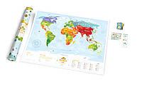 Интерактивная карта мира Travel Map «Kids Animals» с набором карточек,(карта - англ., карточки - русский язык)