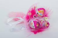 """Букет из шоколадных яиц """" Kinder surprise """" киндер сюрприз-3шт."""