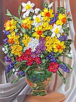 Набор для вышивания лентами Весенние краски НЛ-3028