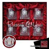 Подарок мужчине хрустальный набор для виски «Казацкая рада» Suggest (6 предметов), 350 мл.