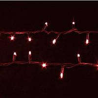 Гирлянда светодиодная наружная String  200LED 10m красный/черный IP44 EN Delux