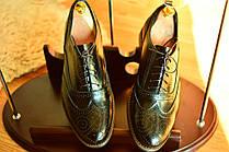 Мужские стильные броги  Florentino, made in Italy, (новые), 44 размер.