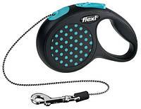 Flexi DESIGN поводок-рулетка для собак и кошек с ТРОСОМ размер XS