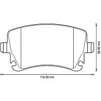 Гальмівні колодки задні (LUCAS, з датчиком) VW Transporter T5 1.9TDI/2.0TD/2.5TDI 90-200-019 BSG (Туреччина)