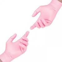 Перчатки нитрил розовые  100 штук