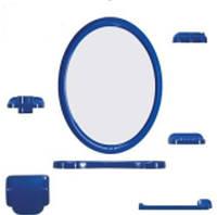 """Зеркало в наборе """"Turkuaz """" 7 предметов, Разные цвета"""