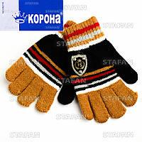 Детские шерстяные перчатки с начёсом Korona E5256-5