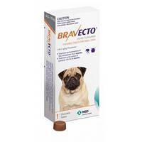 БРАВЕКТО - жевательная таблетка для защиты собак от клещей и блох, весом 4,5 — 10 кг