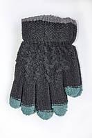 Детские зимние перчатки черного цвета