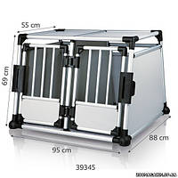 Клетка для перевозки собак в машине, алюминий, Trixie Double Transport Box (95х69х88 см) (39345)
