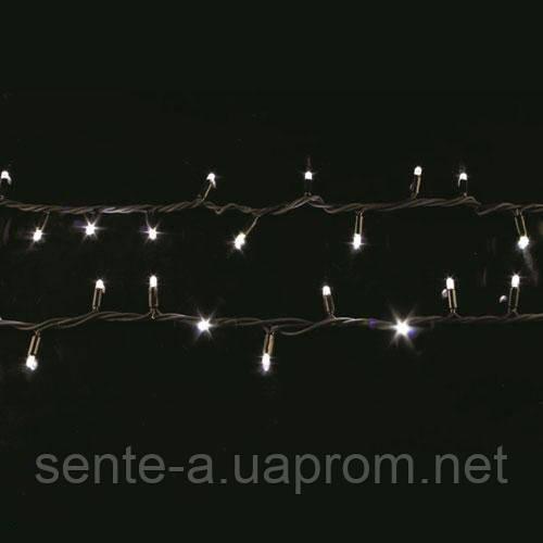 Гирлянда светодиодная наружная String  200LED 20m  белый/черный IP44 EN Delux