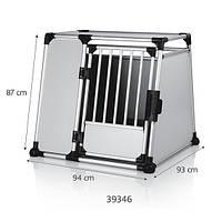 Клетка для перевозки собак в машине, алюминий, Trixie Double Transport Box (94х87х93см) (39346)