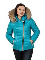 Короткая зимняя куртка с мехом для девушек Naomi  42–56р. в расцветках