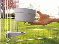 Savic КРОК (Crock) кормушка с креплением в клетку, пластик 1,2л