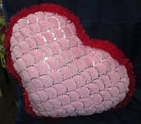 """Подушка сердце """"Красно-розовое"""", фото 1"""