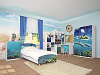 Модульная мебель в детскую комнату Мульти Дельфины, мебель для детской комнаты