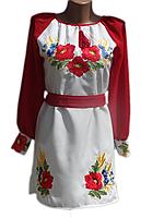"Жіноче вишите плаття ""Крісті"" (Женское вышитое платье ""Кристи"") PN-0010"