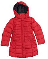 Snowimage Пальто р140,146,152,164 темно-червоний синтепух