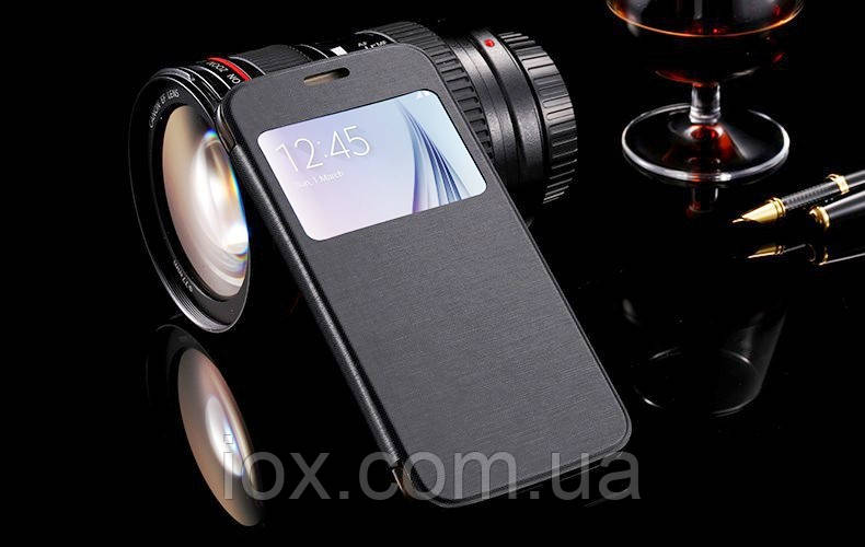 Черная чехол-книжка для Samsung Galaxy S6