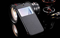 Черная чехол-книжка для Samsung Galaxy S6, фото 1