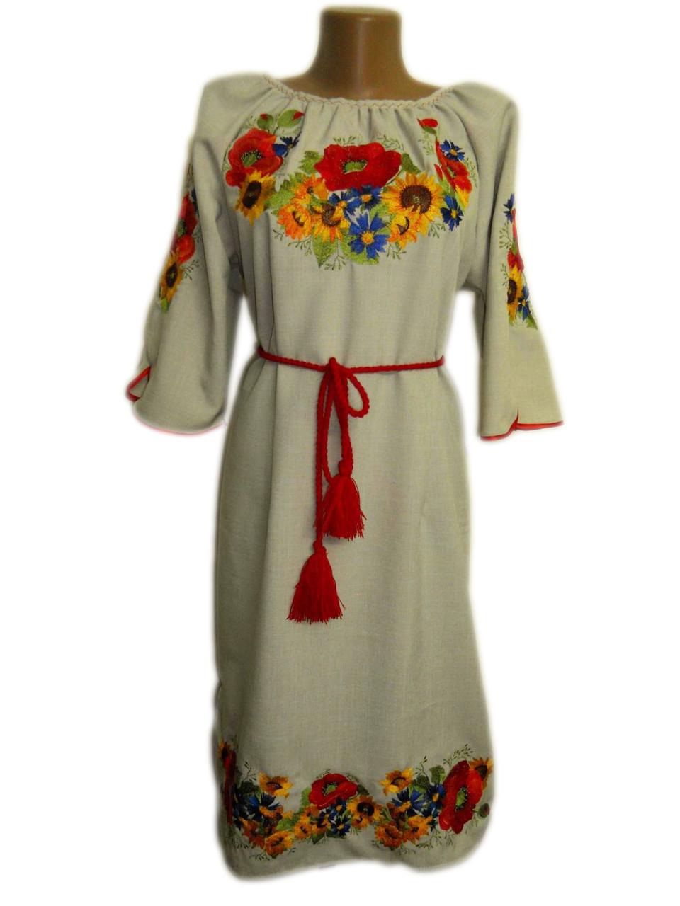 """Женское вышитое платье """"Морайн"""" PN-0020"""