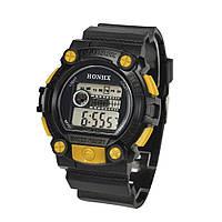 Спортивные часы с секундомером, будильником и неоновой подсветкой (∅45 мм) Honhx-Shok Yellow