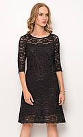 Женское кружевное платье черного цвета. Модель ZS275 Sunwear, коллекция осень-зима 2016-2017. 44, Красный