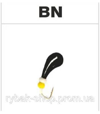 Мормышка вольфрамовая чесночинка с отверстием, цвет чёрный никель