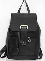 Рюкзак текстильный с вставками из кож.зама , фото 1