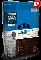 Acana cobb chicken & greens 17кг -корм для взрослых собак с курицей и зеленью