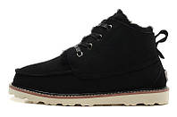 Ботинки мужские Ugg Australia David Bakham (угги девид бекхем) замшевые черные, угги мужские