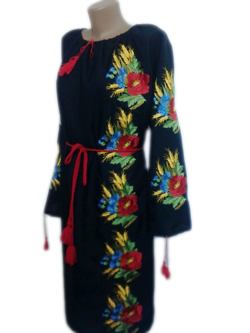 "Жіноче вишите плаття ""Марджон"" (Женское вышитое платье ""Марджон"") PN-0027"