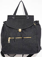 Рюкзак джинсовый для вещей черный, фото 1