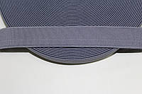 Резинка декоративная 30мм, св.серый , фото 1