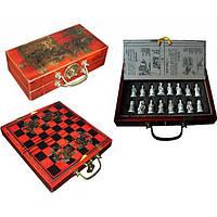 Шахматы антик (Японская битва самураев), 23 см х 21.5 см