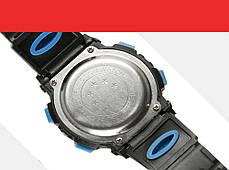 Спортивные часы с секундомером, будильником и неоновой подсветкой (∅40 мм) Honhx-Line red, фото 3